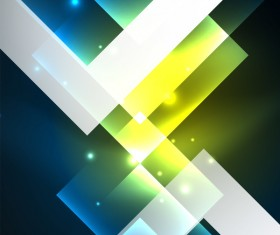 Abstract neon background with shining light vector 04
