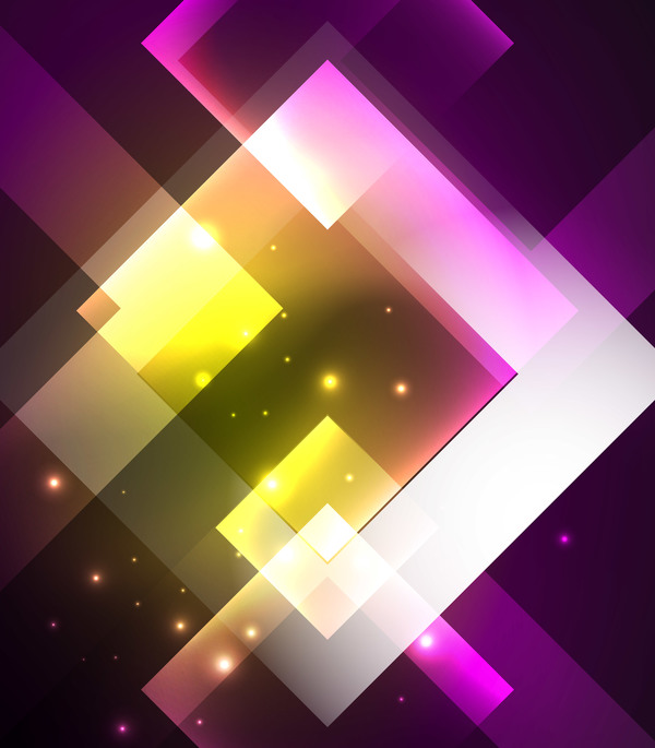 Abstract neon background with shining light vector 05