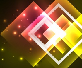 Abstract neon background with shining light vector 06