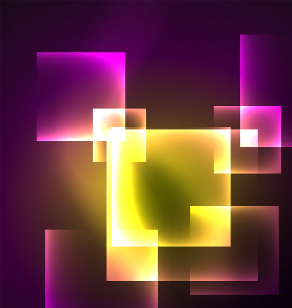 Abstract neon background with shining light vector 07