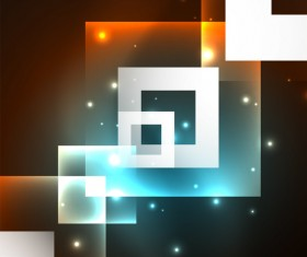 Abstract neon background with shining light vector 08