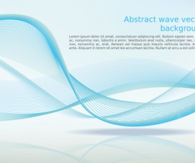 Abstract wave background vector design