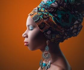 Africa Fashion Beauties model Stock Photo
