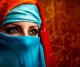 Arab hijab Stock Photo 13
