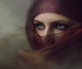 Arab hijab Stock Photo 15