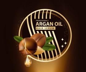 Argan oil hair serum poster vector 04