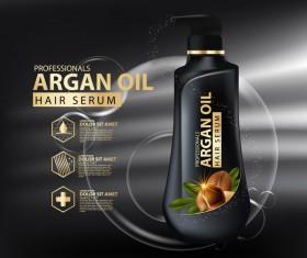 Argan oil hair serum poster vector 06