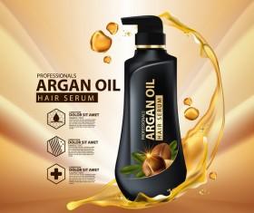 Argan oil hair serum poster vector 08