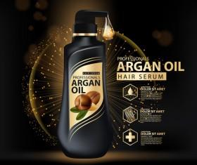Argan oil hair serum poster vector 10