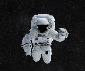 Astronauts spacewalk Stock Photo 03