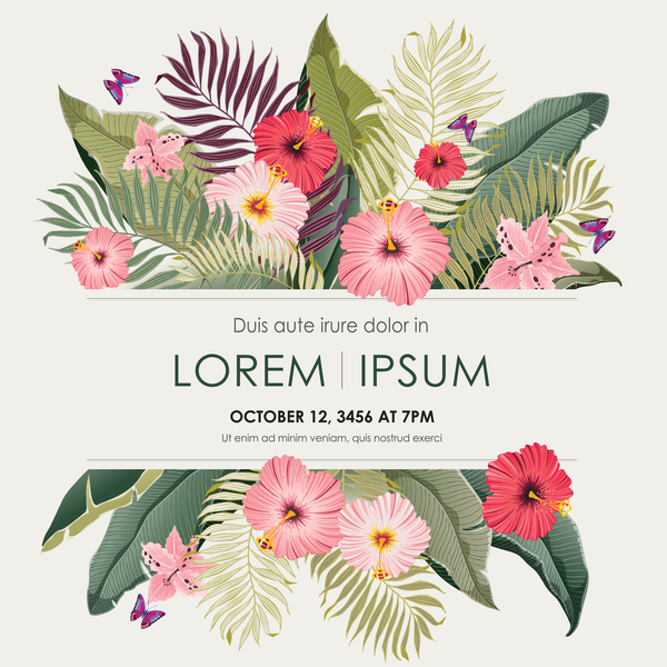 Autumn invitation card template with flower vector 07 free download autumn invitation card template with flower vector 07 stopboris Image collections