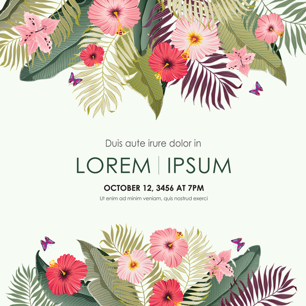 Autumn invitation card template with flower vector 10 free download autumn invitation card template with flower vector 10 stopboris Images
