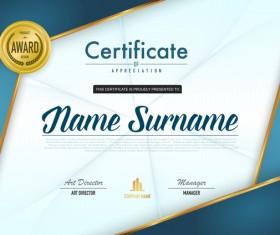Award certificate template vector material