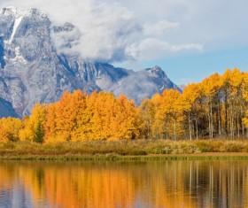 Beautiful autumn scenery Stock Photo 07