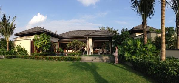 Beautiful environment of the villa Stock Photo