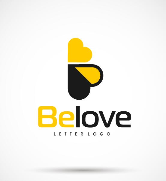 Bee love logo vector