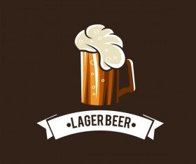 Beer emblem retro design vector material 01