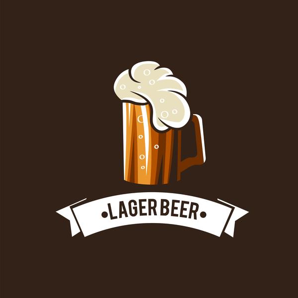 Beer emblem retro design vector material 01