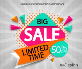 Big sale background creative vector