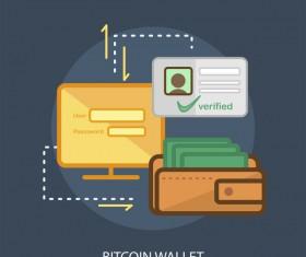 Bitcoin Wallet Conceptual Design vector