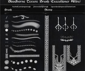 Bloodborne photoshop brushes