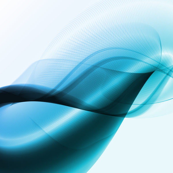 Blue abstract wave vector background