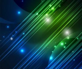 Blue green polar lights background vector 02