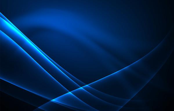 Blue polar lights abstract background vector 02