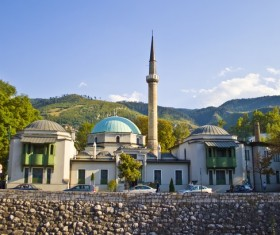 Bosnian mosque Stock Photo