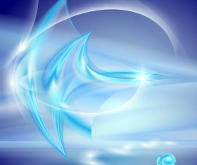 Bright blue abstract backgrounds vector 03