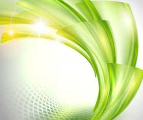 Bright green wavy abstract backgrounds vector