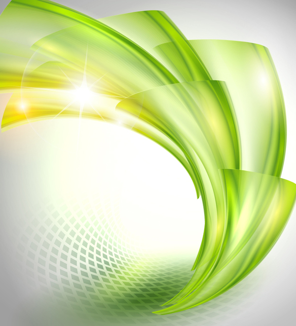 Bright Green Wavy Abstract Backgrounds Vector Free Download