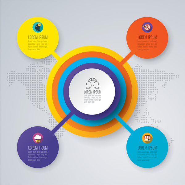 Business infographic with circle vector
