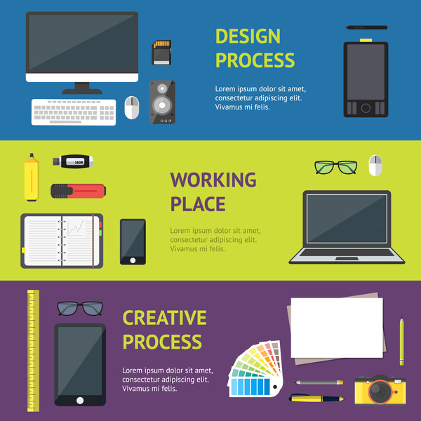 Business work banner template vector 04