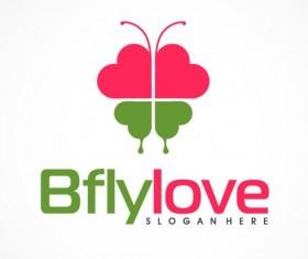 Butterfly love logo vector