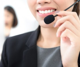 Call Center Beauties Stock Photo