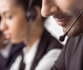 Call center service personnel Stock Photo 01