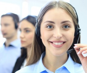Call center service personnel Stock Photo 02