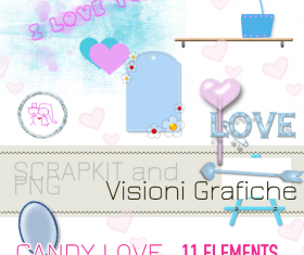 Candy love photoshop brushes