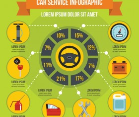Car service infographic design vector