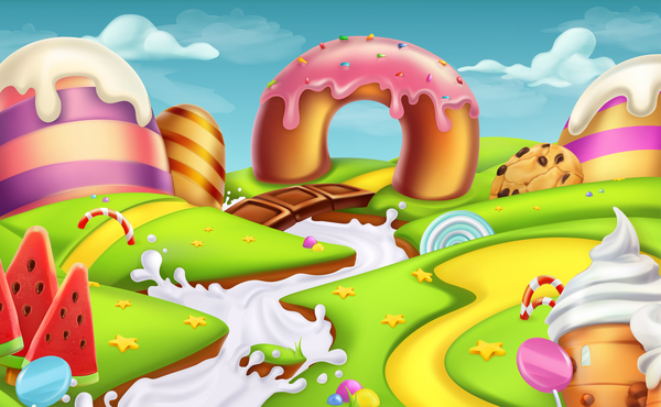 Cartoon Candy World Vector Material 05 Free Download