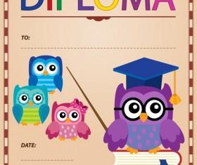 Cartoon styles diploma theme template vectors 03