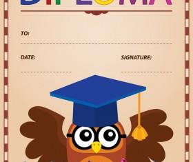 Cartoon styles diploma theme template vectors 04