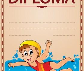 Cartoon styles diploma theme template vectors 13