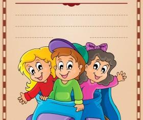 Cartoon styles diploma theme template vectors 16