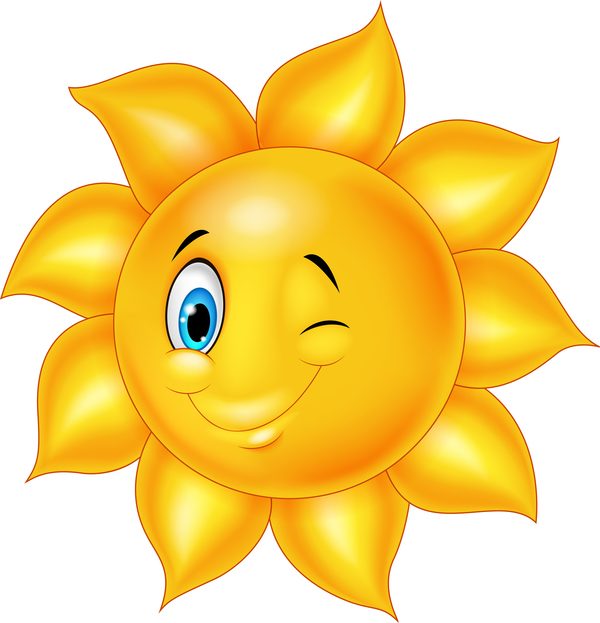 Cartoon Sun Smiling Face Vectors 08 Vector Cartoon Free