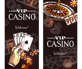 Casino banners design vector set 02