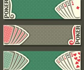 Casino banners design vector set 04