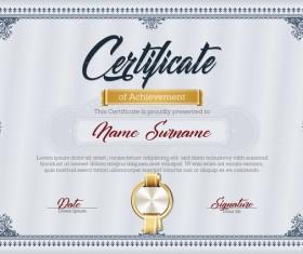 Certificate templete blue vector 01