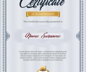 Certificate templete blue vector 02